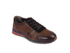 Paolo Massi 9034 Ανδρικό Sneaker Δερμάτινο Ταμπά