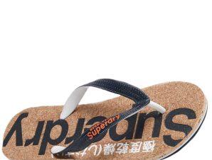 SUPERDRY Cork Flip Flop Σαγιονάρα S-L – Μπλε – SDWF310005A/09/2/10/368